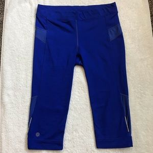 Athleta workout crops, royal blue